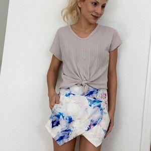 Rumor Boutique Watercolor Floral Skort Size S